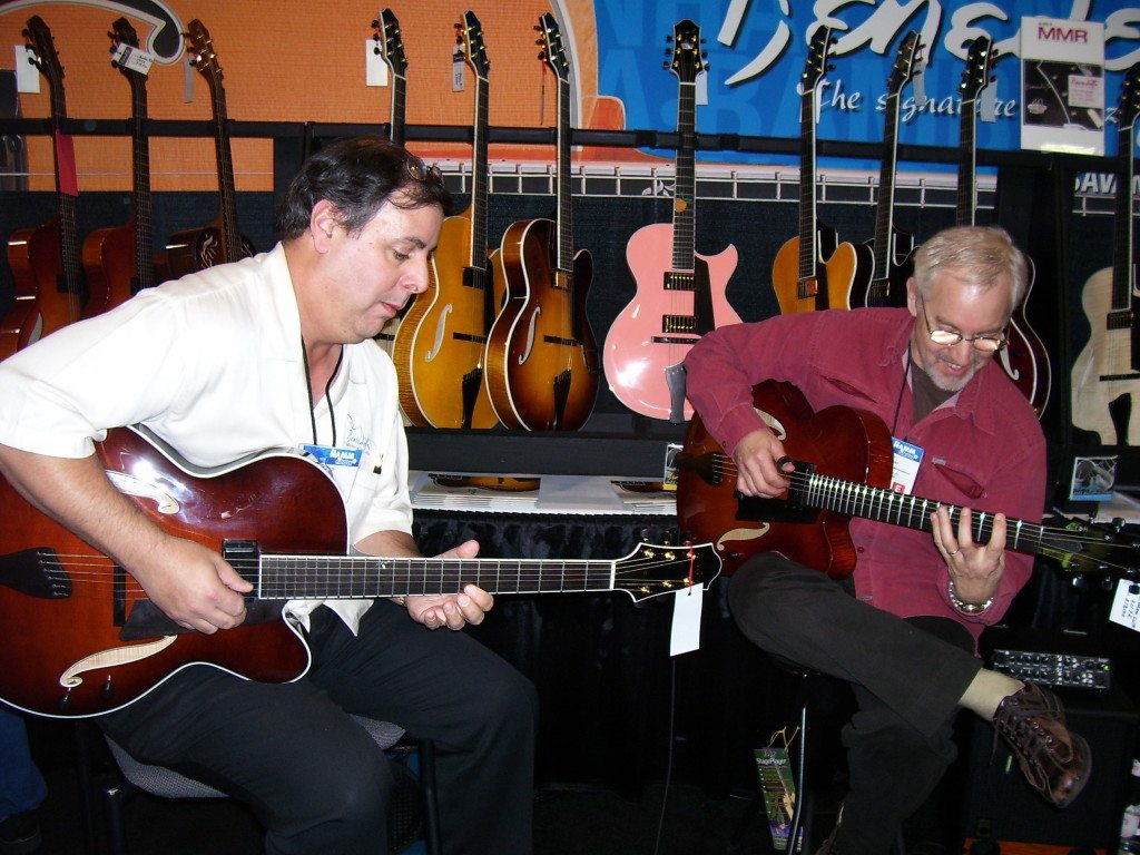 Howard Paul & Sid Jacobs at the 2007 Benedetto NAMM booth.  Mike Oria Photography