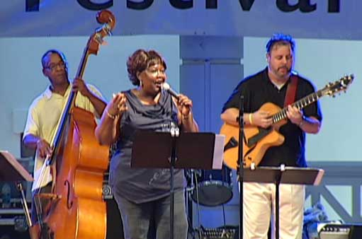Delbert Felix, Huxsie Scott & Howard Paul at the Hall of Fame Induction, Savannah Jazz Festival