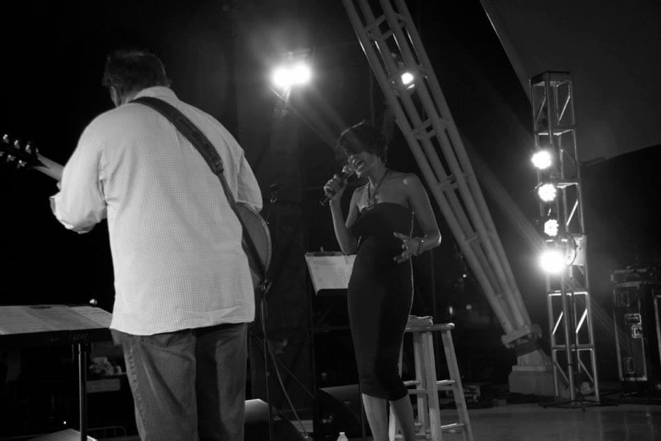 Howard Paul and Audrey Shakir at The Savannah jazz Festival