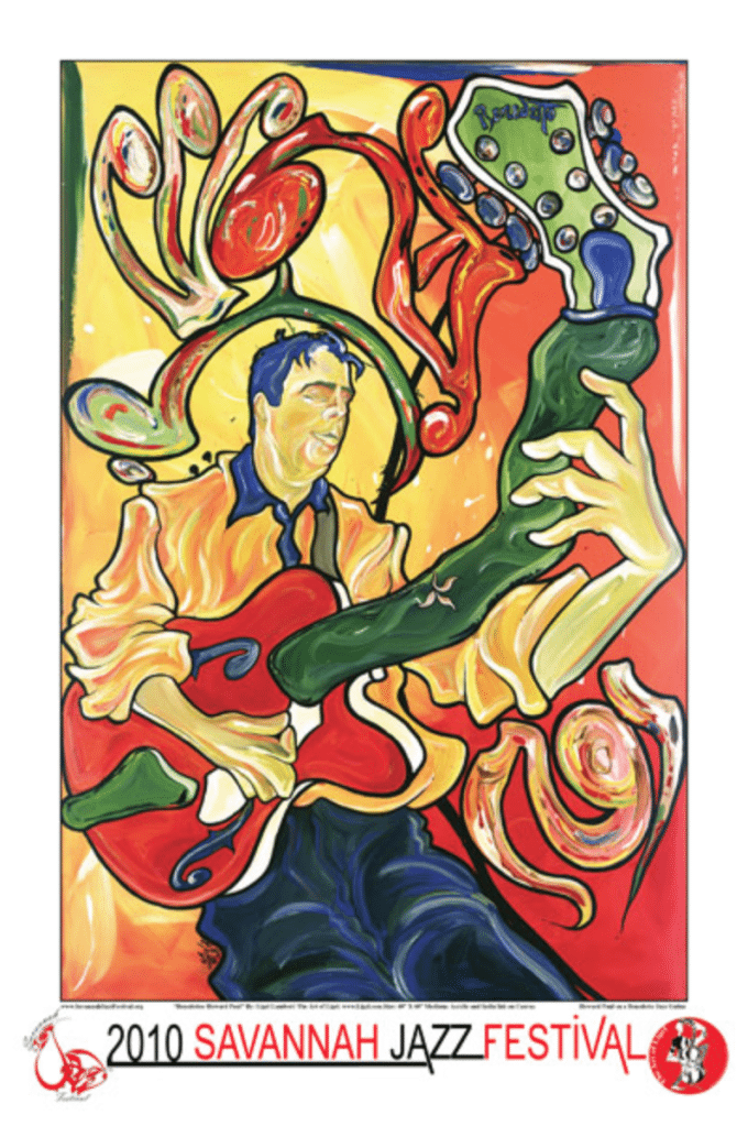 Howard was the subject of the 2010 Savannah Jazz Festival poster by artist Ligel Lambert.