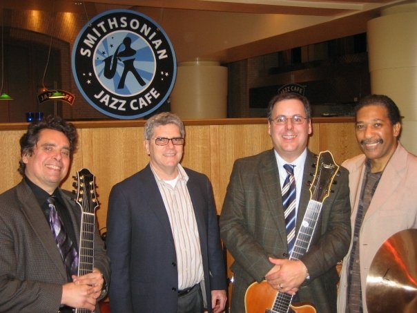 Smithsonian Jazz Cafe, DC with Howard Alden & Howard Paul with bassist Tommy Cecil & drummer Nasar Abadey