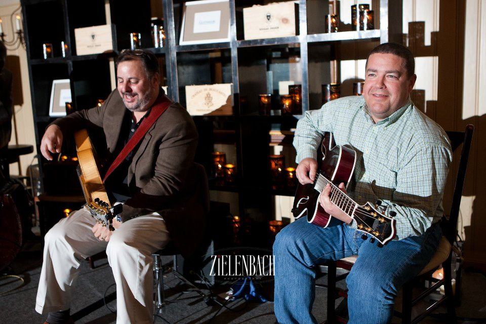 Palmetto Bluff Miner Wine Dinner duet with Dave Miner & Howard Paul.  Photo by Zielenbach