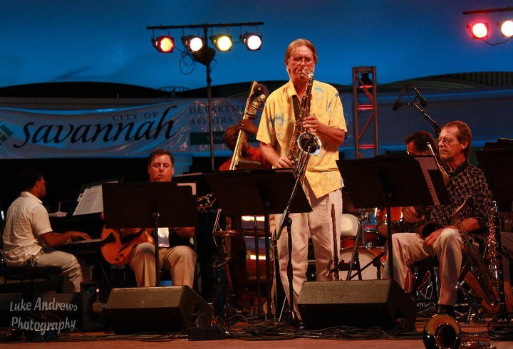 Savannah Jazz Orchestra Eric Jones (p), Howard Paul, and tenor saxophonist