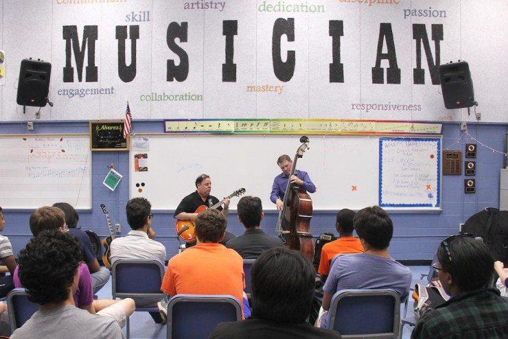 Northern VA HS Guitar program w/Rosemary and Jason Gano