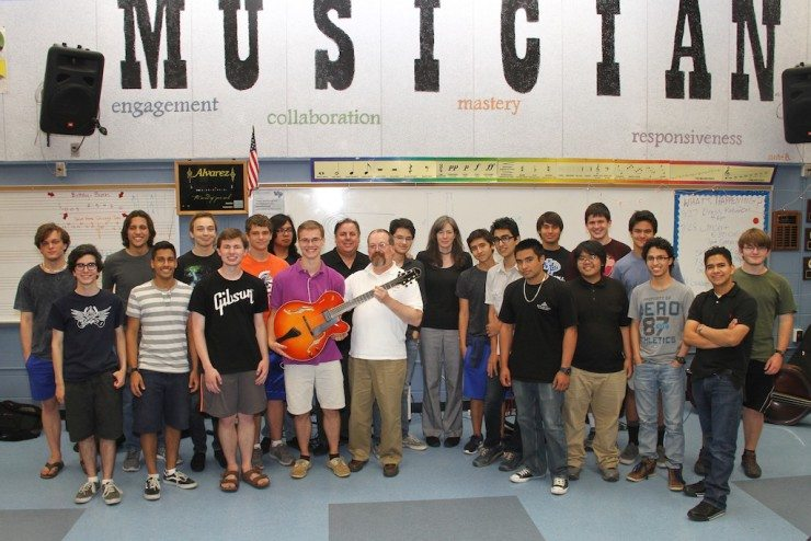 Northern VA HS Guitar program w/Rosemary and Jason Gano