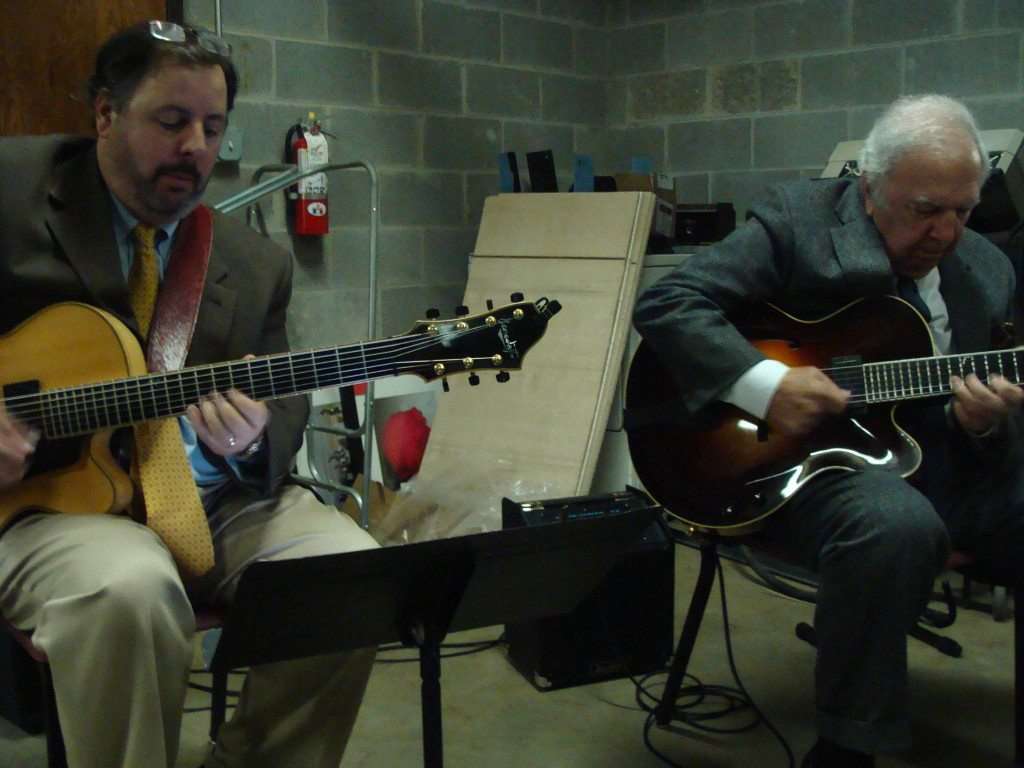 Howard Paul & Bucky Pizzarelli perform in a storm shelter during a tornado outbreak in Memphis, TN.