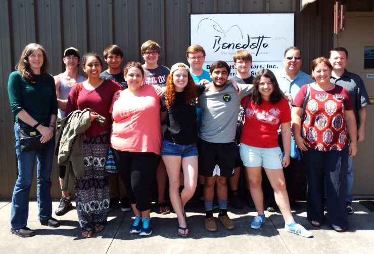 Northern VA Students field trip to Benedetto with Rosemary Gano.