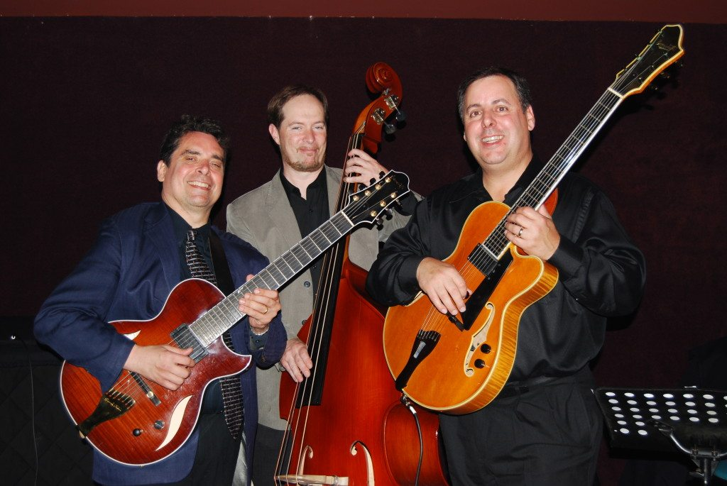 Howard Alden, Phil Flanigan and Howard Paul at The Jazz Corner, SC