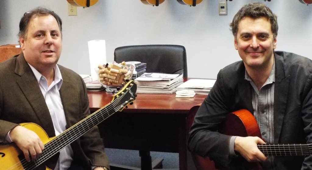 Howard Paul & Peter Mazza at Benedetto Guitars, 2015