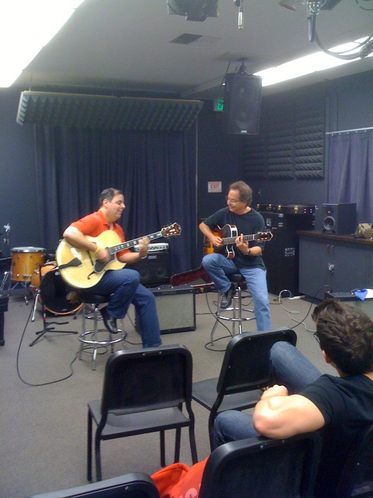 Howard Paul & Pat Kelley performing at USC.