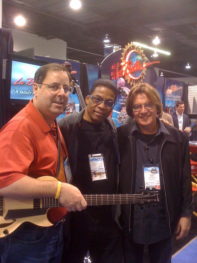 Howard Paul, Herbie Hancock and Bunny Brunel