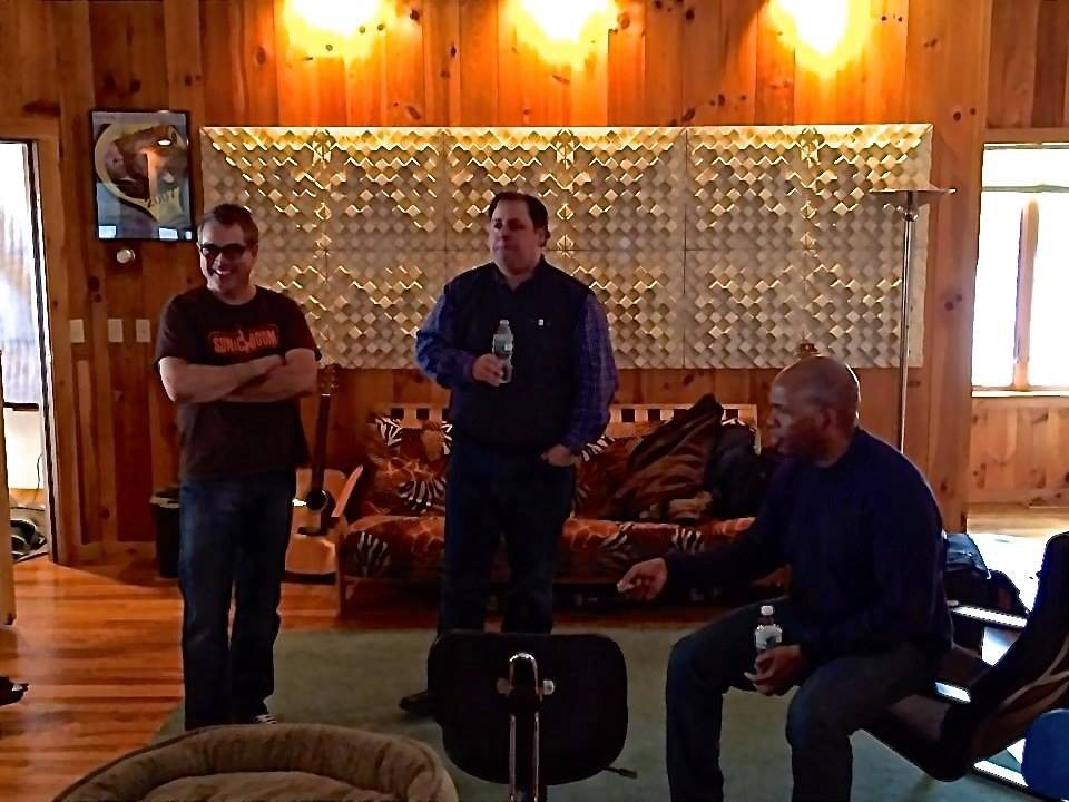 Studio with Karl Latham, Howard Paul & Mark Peterson 2014
