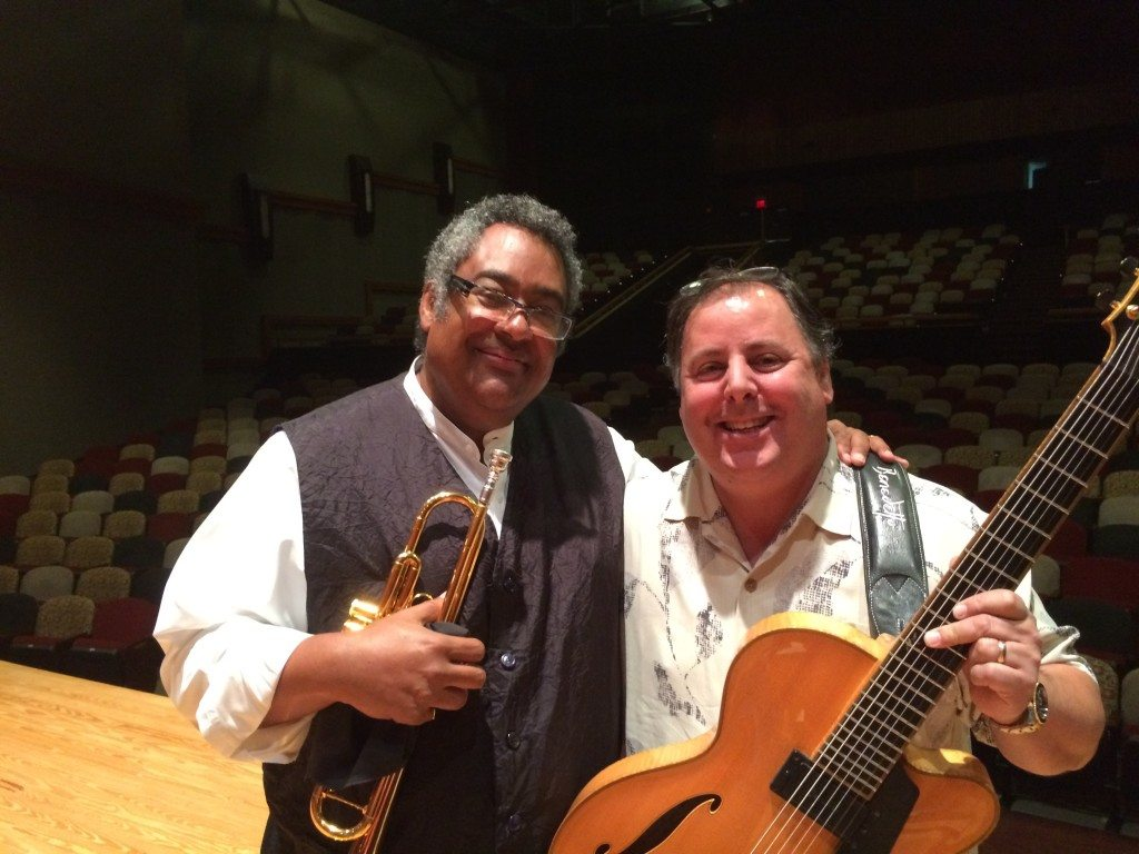 Trumpet icon Jon Faddis & Howard Paul at Savannah Jazz Festival 2014