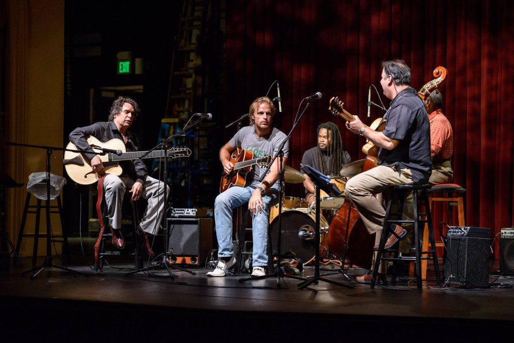 Napa Valley Opera House with Howard Alden, Andreas Oberg, Quentin Baxter, Howard Paul and Ben Tucker. Mike Oria Photography