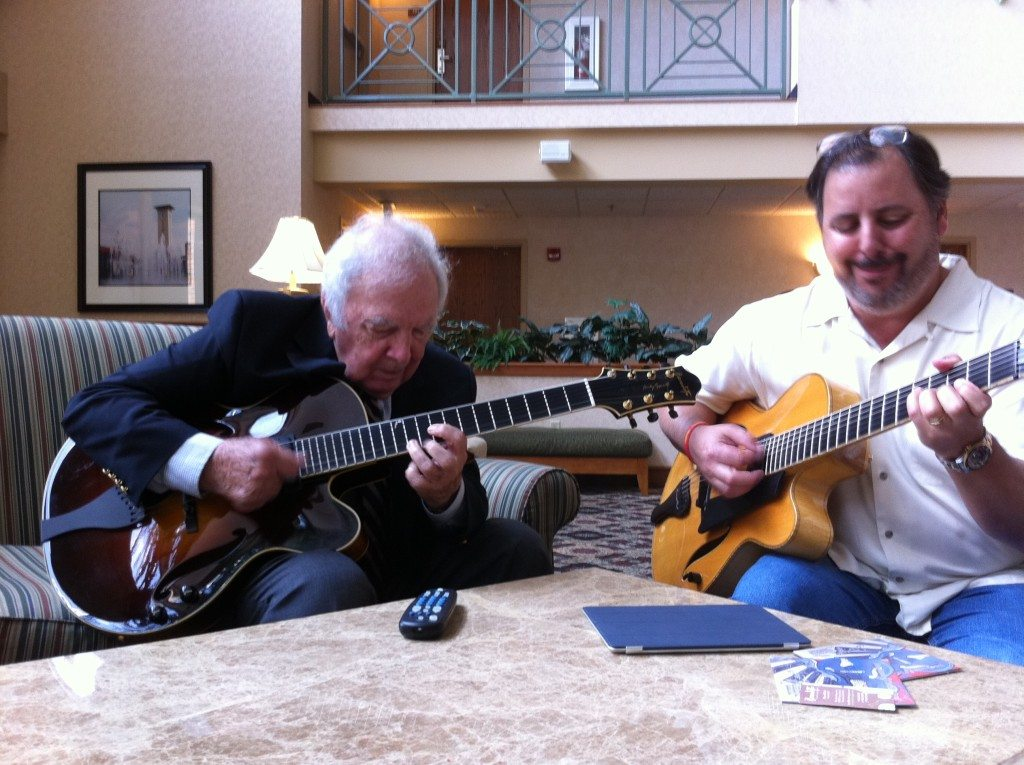 Lobby warmup in Memphis, TN with Bucky Pizzarelli and Howard Paul