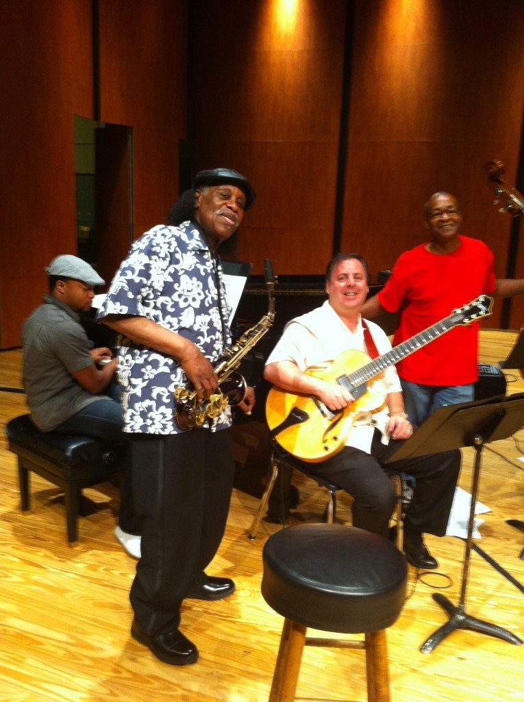 Rehearsal for Savannah Jazz Festival with Eric Jones, Eddie Pazant, Howard Paul and Delbert Felix