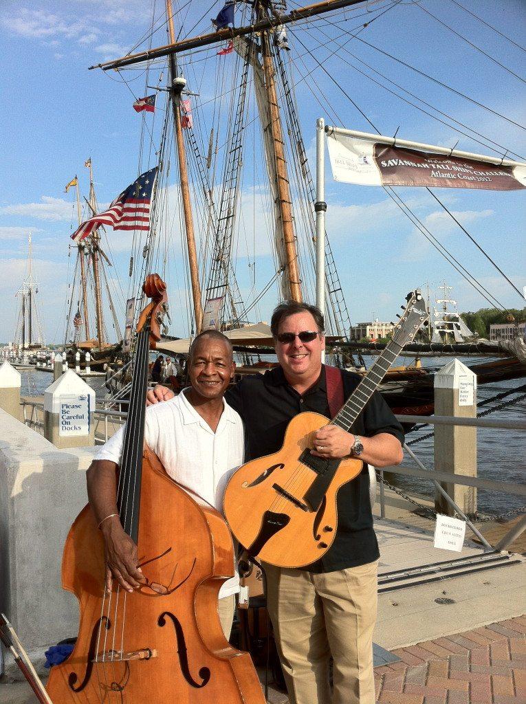 Duo on the Savannah River with Delbert Felix & Howard Paul