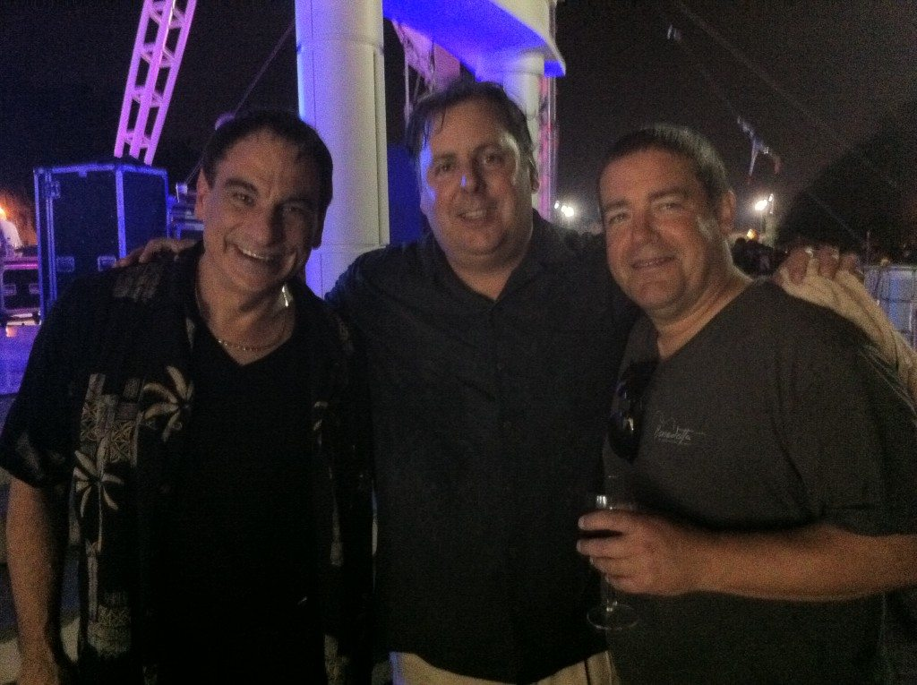 Back stage at the Savannah Jazz Festival with Tony Monaco, Howard Paul and Dave Miner.
