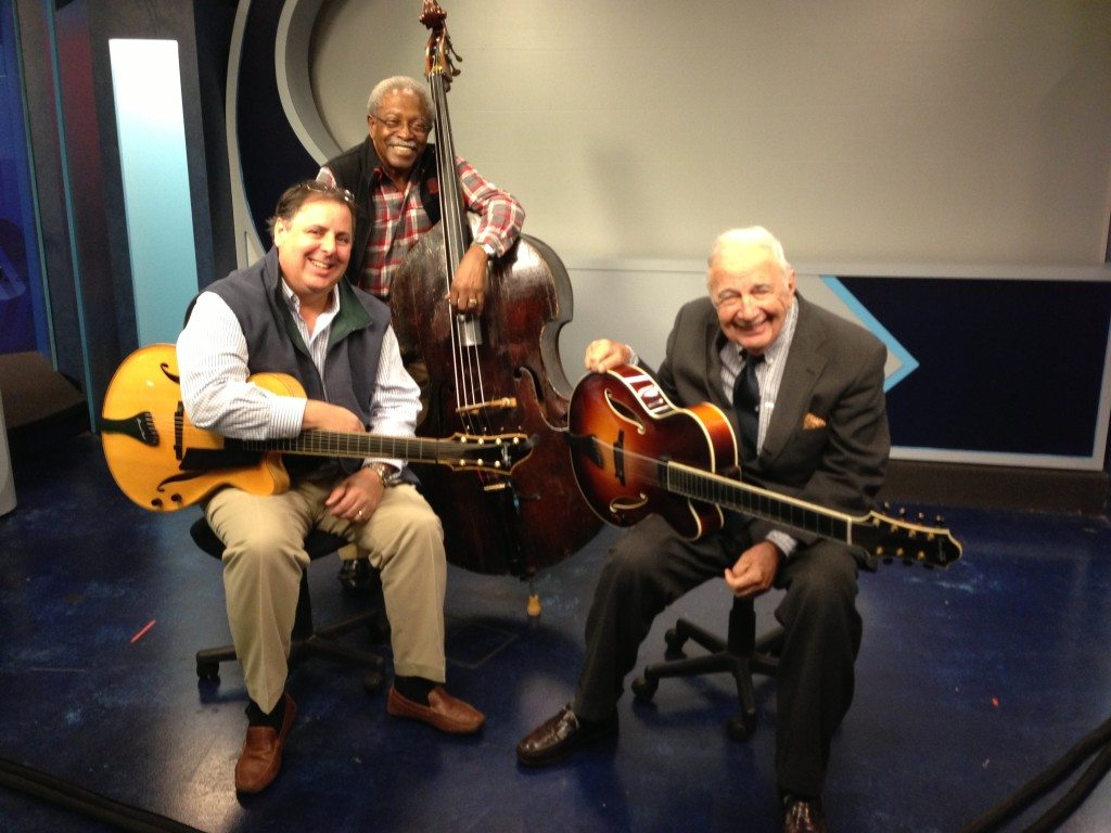 TV publicity appearance for the Coastal Jazz Association with Howard Paul, Ben Tucker & Bucky Pizzarelli.