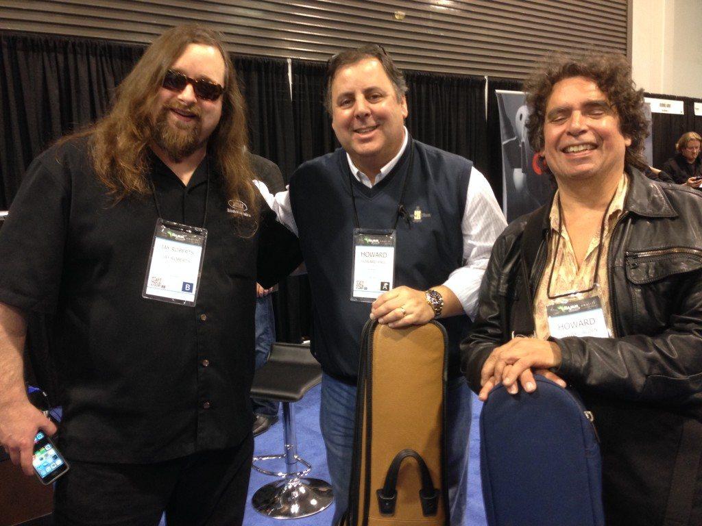 NAMM with Jay Roberts (Howard Roberts' son), Howard Paul and Howard Alden