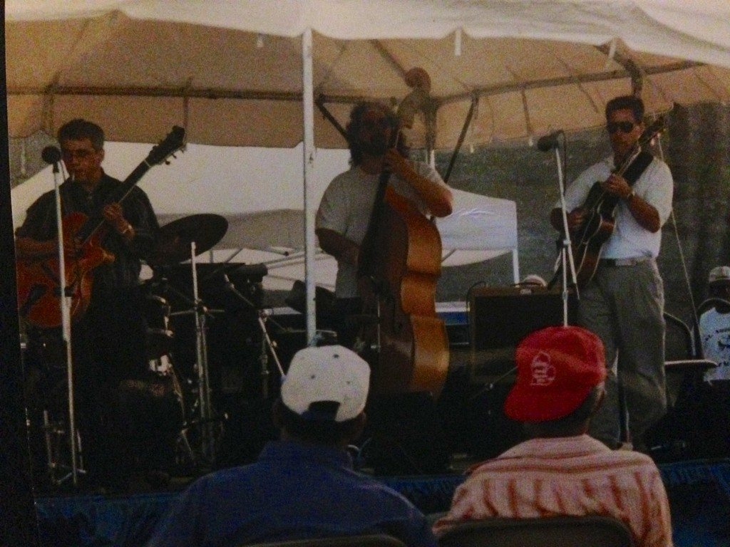 1996 Tybee Island Jazz and Blues Festival.   Jimmy Bruno & Howard Paul (bassist unknown) first performance together.