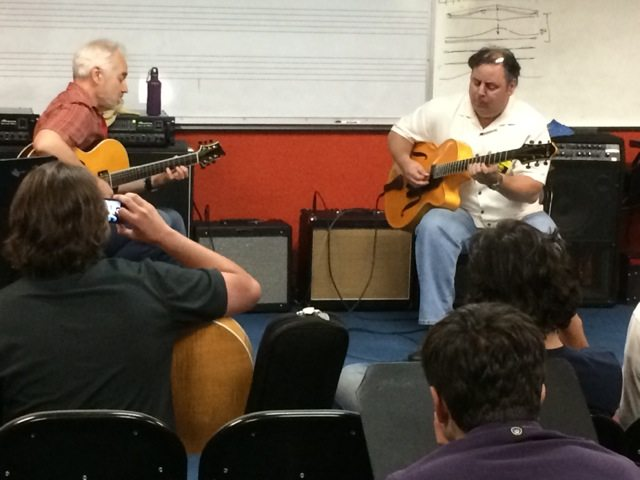 Musicians Institute duo performance with Sid Jacobs and Howard Paul