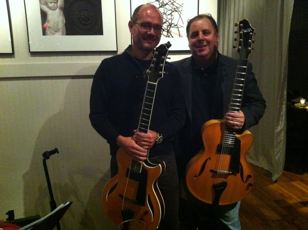 Dr. Sasha Strunjas and Howard Paul following a duo gig.