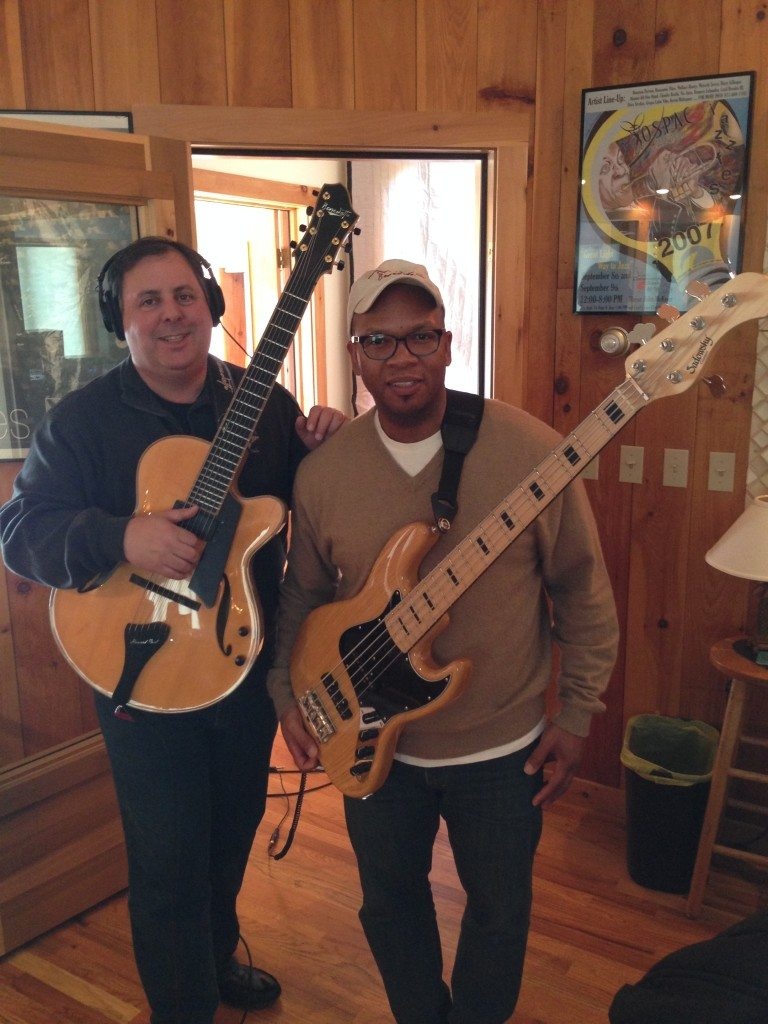 In the studio in NY with Howard Paul and Mark Peterson.
