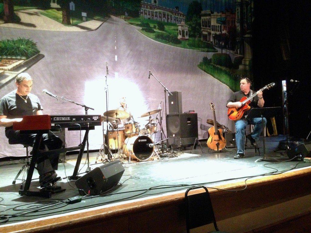 Tont Monaco, Justin Varnes and Howard Paul at the Macon Jazz Festival.