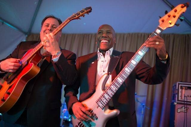 Howard Paul and Nathan East duo performance in Napa, California.