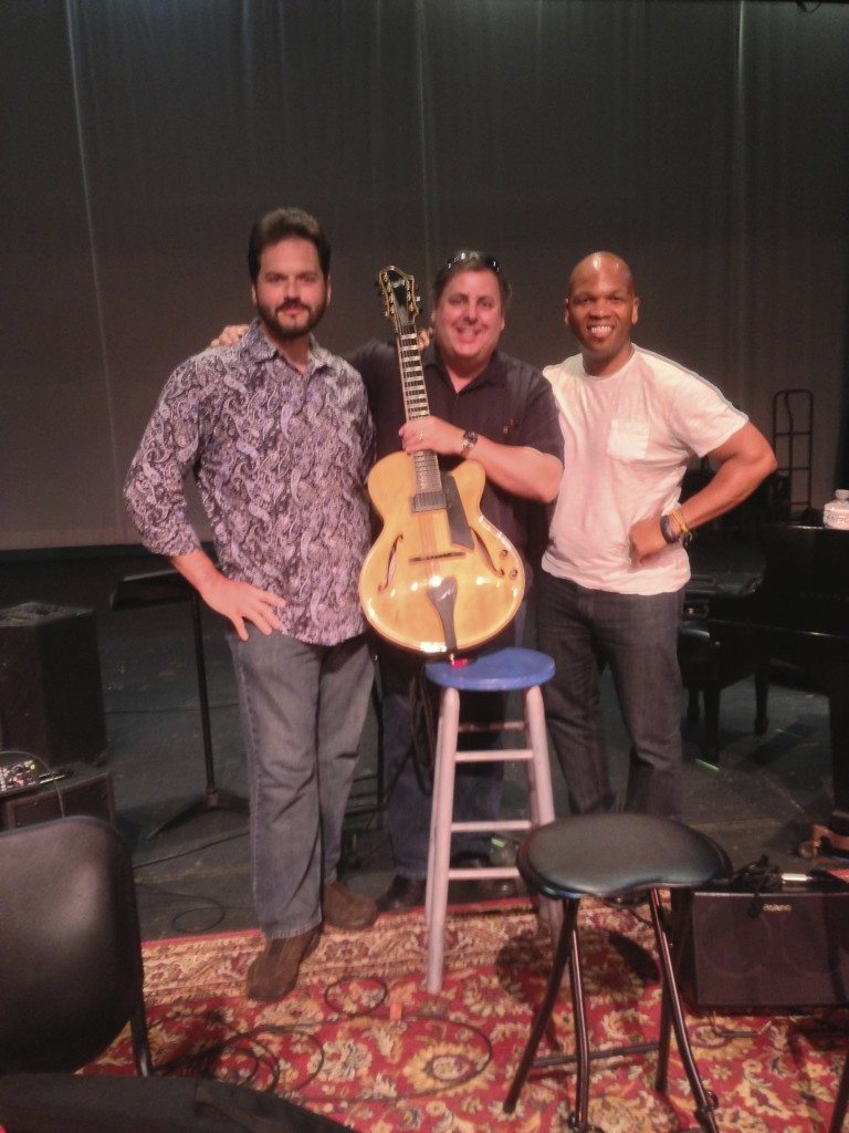 Scott Giddens, Howard Paul and Mark Peterson at sound check for Jazz At The Center in South Carolina.