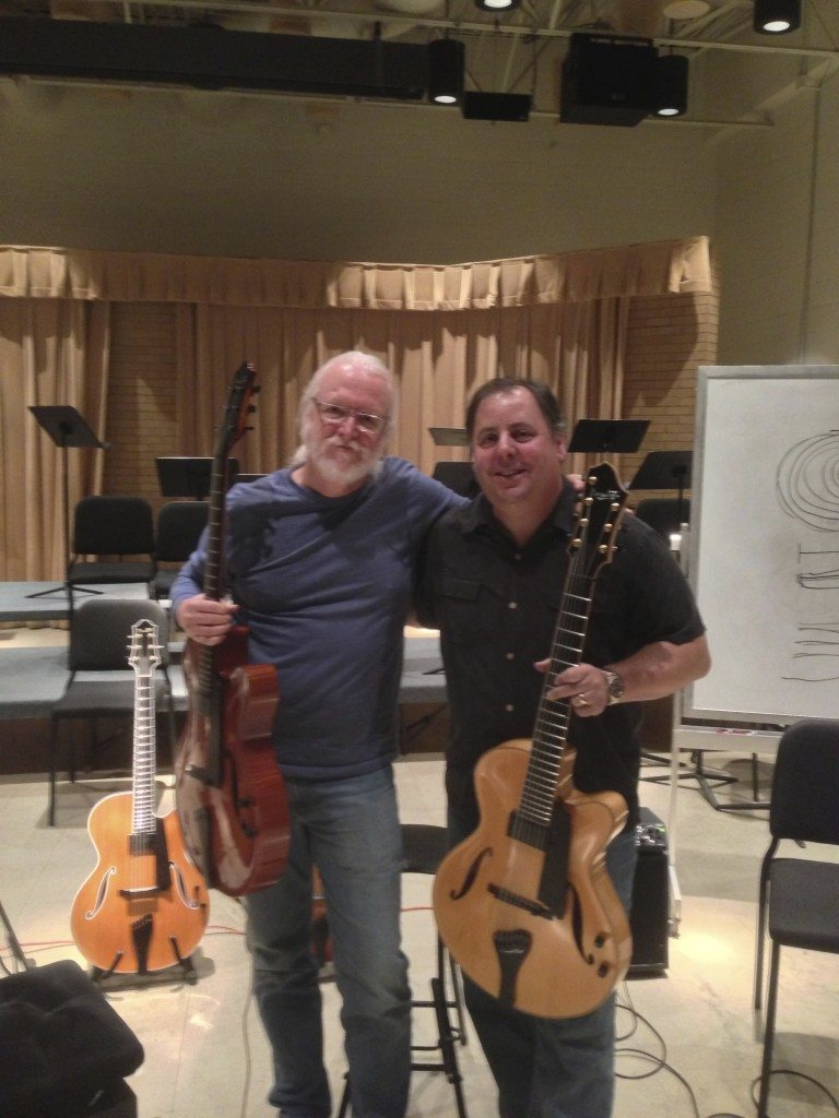 UNT Professor Fred Hamilton and Howard Paul perform for students following Benedetto Workshop