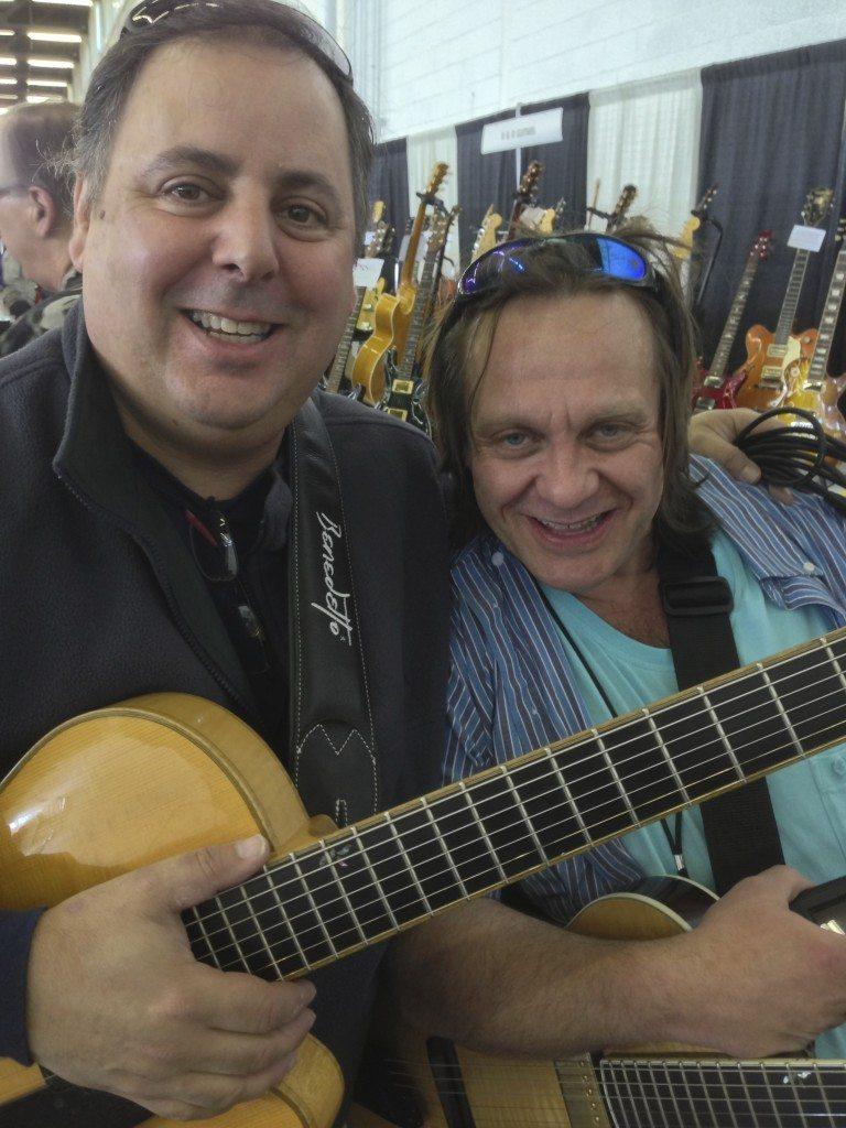 Howard Paul and Clint Strong at the Arlington TX Guitar Show