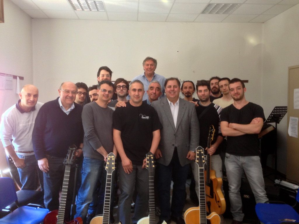 Italian music conservatory visit with Luca di Luzio and Howard Paul