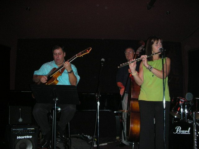 Howard Paul, George Sheck and Ali Ryerson at live recording of Ali Ryerson: Jammin' At The Jazz Corner 2006