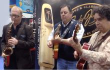 Jody Jazz NAMM Booth w/Howard Alden, Howard Paul and Jody Espina