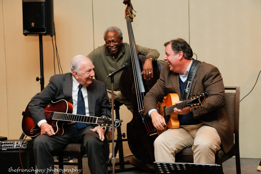 Bucky Pizzarelli, Ben Tucker & Howard Paul at a Coastal Jazz Association concert.  Photo by thefrenchguy photography.