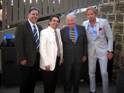 Howard Paul, Howard Alden, Bucky Pizzarelli and Andrea Oberg at Miner Winery 2008.