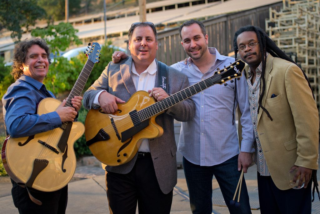 Miner Wine Release w/Howard Alden, Howard Paul, Christian Tamburr, and Quentin Baxter.  Mike Oria Photography