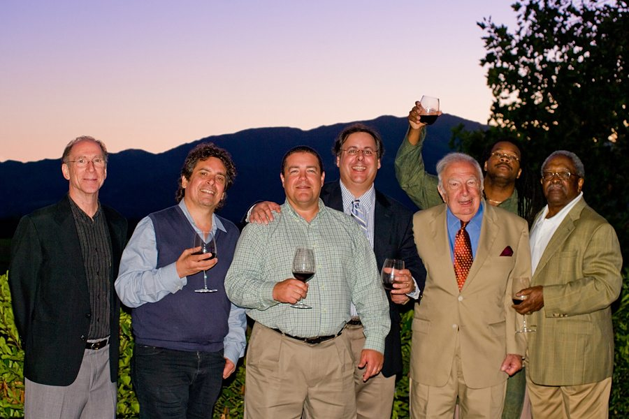 Bob Benedetto, Howard Alden, Dave Miner, Howard Paul, Bucky Pizzarelli, Quentin Baxter, and Ben Tucker.  Mike Oria Photography