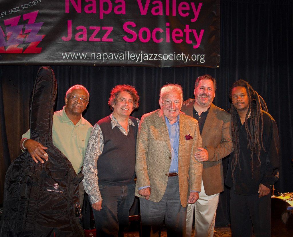 Ben Tucker, Howard Alden, Bucky Pizzarelli, Howard Paul and Quentin Baxter.  Mike Oria Photography