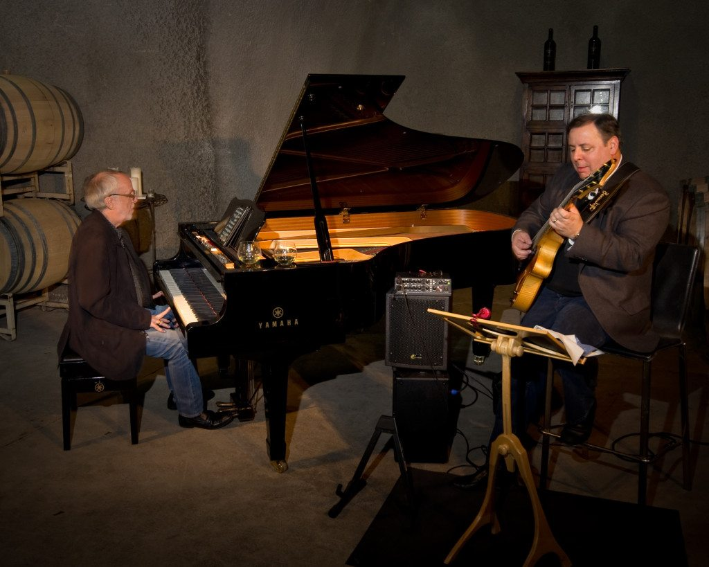 Bob James and Howard Paul 2012 Miner Winemakers Dinner.  Mike Oria Photography