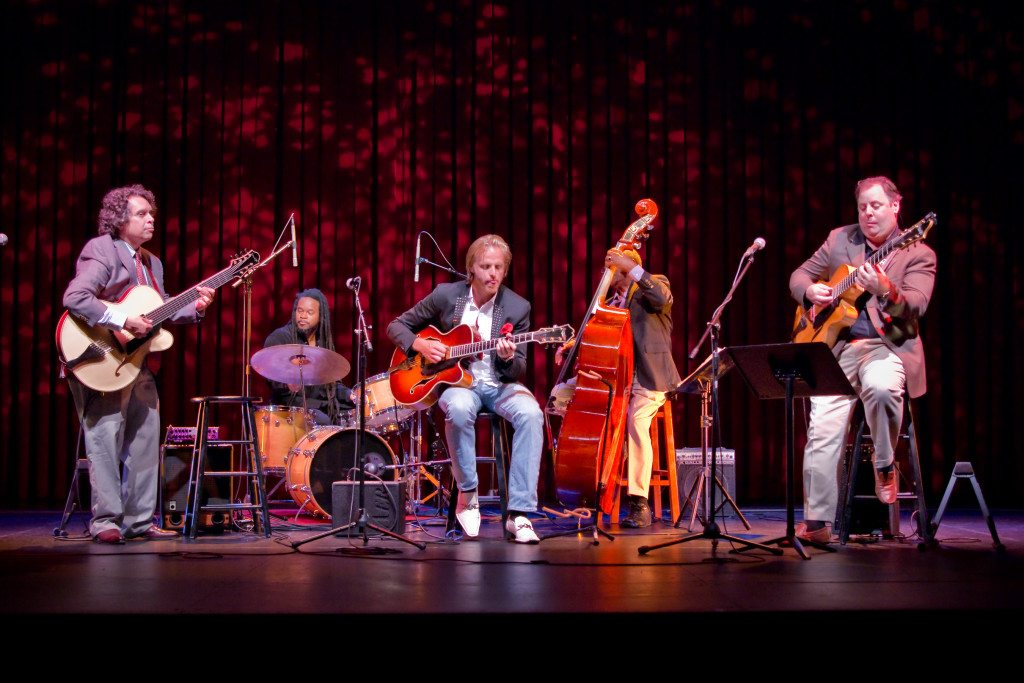 Napa Valley Opera House w/Howard Alden, Quentin Baxter, Andreas Oberg, Ben Tucker and Howard Paul. Mike Oria Photography
