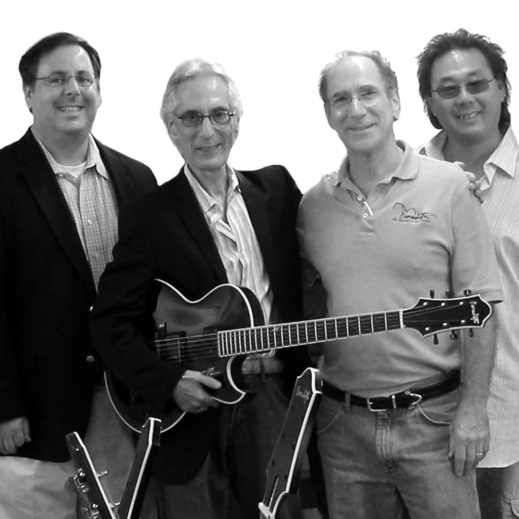 Howard Paul, Pat Martino, Bob Benedetto and Kirk Yano at Benedetto in 1999
