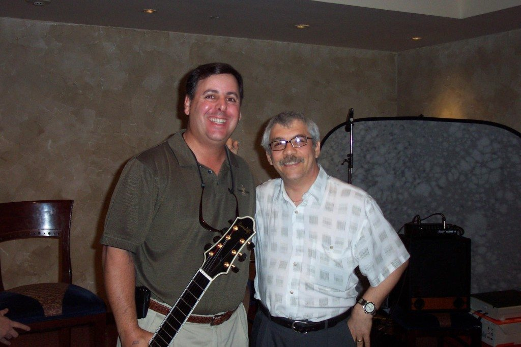 Howard and Jimmy Bruno at Long Island Guitar Show, 1999
