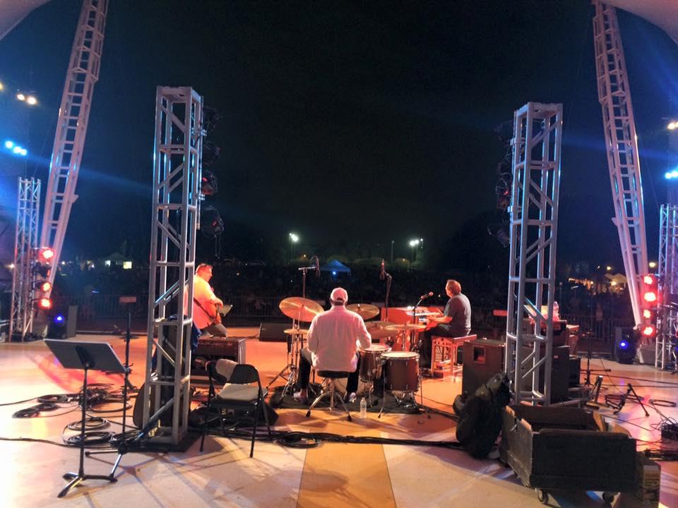 2015 Savannah Jazz Festival: Tony Monaco, Harvey Mason, Howard Paul (Photo by Asako Monaco)