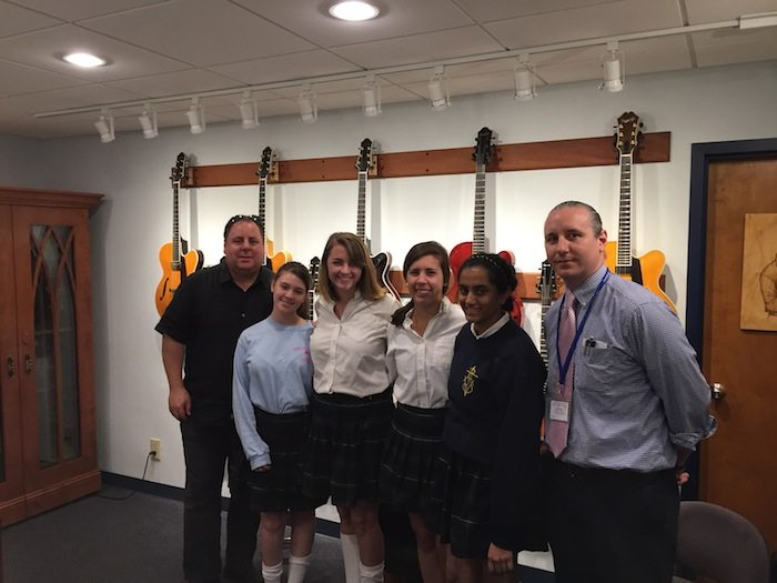 Students from St. Vincent's Academy visit Benedetto 2015