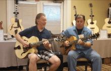 Dwight Spencer and Howard Paul at the Buscarino table at the Chet Atkins Appreciation Society, Nashville TN.
