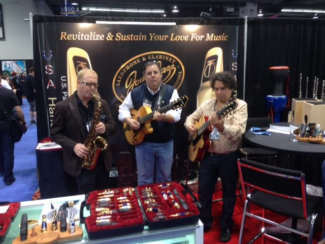 NAMM with Jody Espina, Howard Paul & Howard Alden