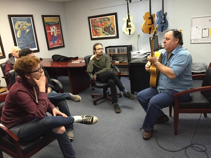 Student visit Benedetto Guitars in Savannah GA